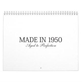 Made in 1950 calendar