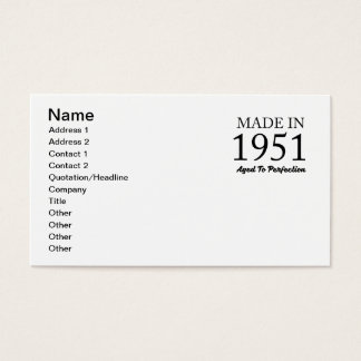 Made In 1951 Business Card
