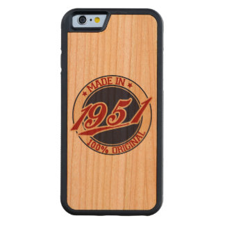 Made In 1951 Carved® Cherry iPhone 6 Bumper Case