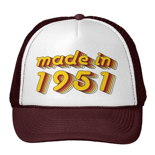 Made in 1951 (Yellow&Red) Trucker Hats