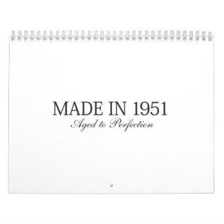 Made in 1951 calendar