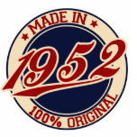 Made In 1952 Photo Cut Outs