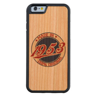 Made In 1953 Carved Cherry iPhone 6 Bumper Case