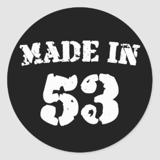 Made In 1953 Classic Round Sticker
