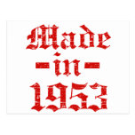 Made in 1953 designs postcards