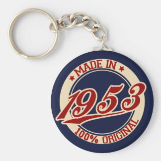 Made In 1953 Keychain