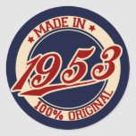 Made In 1953 Stickers