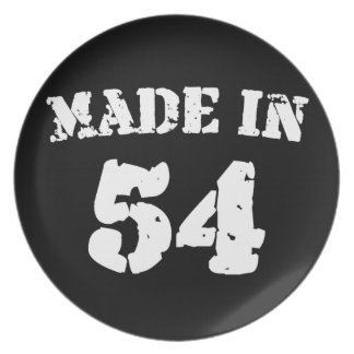 Made In 1954 Dinner Plate