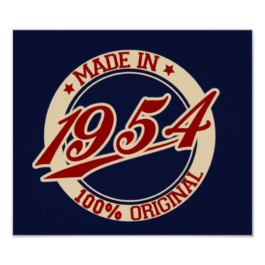 Made In 1954 Poster