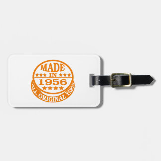 Made in 1956 all original parts luggage tag
