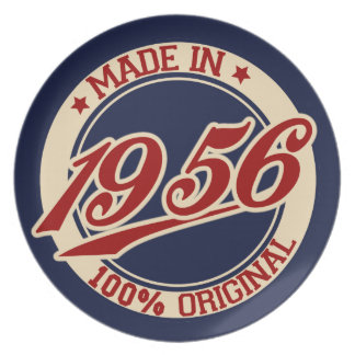 Made In 1956 Party Plates