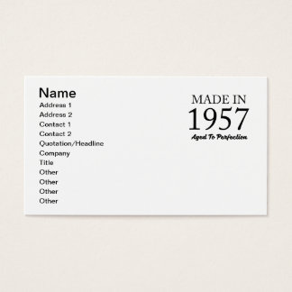 Made In 1957 Business Card