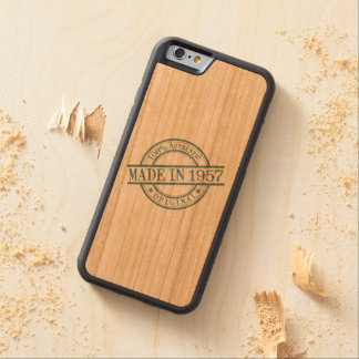 Made in 1957 carved cherry iPhone 6 bumper case