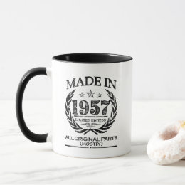 Made in 1957 - Funny 60th Birthday Mug