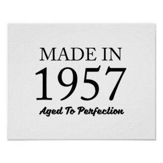 Made In 1957 Poster