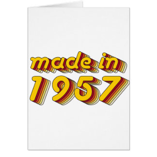 Made in 1957 (Yellow&Red) Card