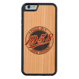 Made In 1958 Carved® Cherry iPhone 6 Bumper Case
