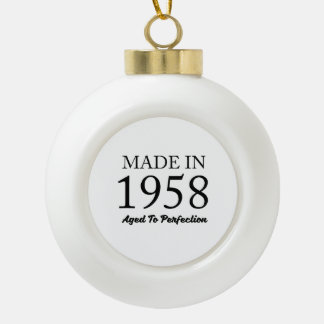 Made In 1958 Ceramic Ball Christmas Ornament