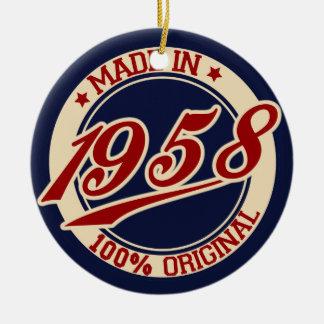 Made In 1958 Ceramic Ornament