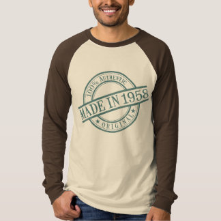 Made in 1958 Circular Rubber Stamp Style Logo T-Shirt