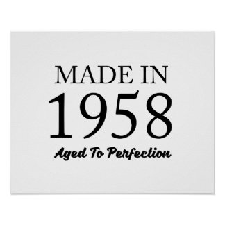 Made In 1958 Poster