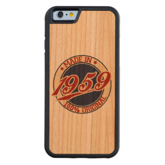 Made In 1959 Carved Cherry iPhone 6 Bumper Case
