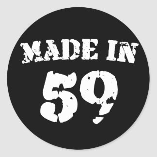 Made In 1959 Classic Round Sticker