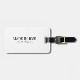 Made in 1959 tag for bags