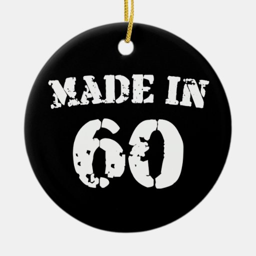 Made In 1960 Double-Sided Ceramic Round Christmas Ornament