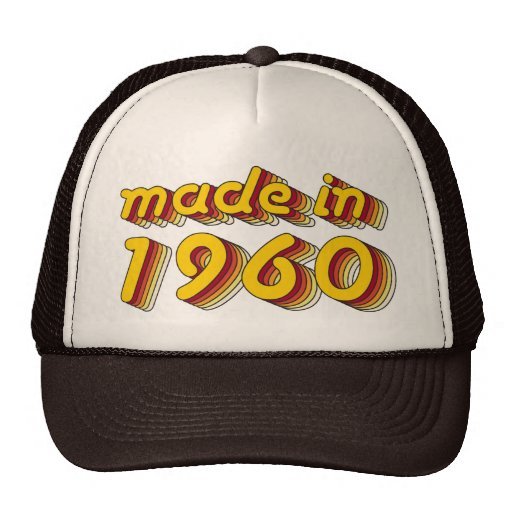 Made in 1960 (Yellow&Red) Hats