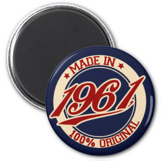 Made In 1961 2 Inch Round Magnet