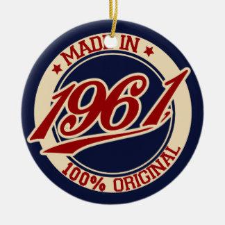 Made In 1961 Ceramic Ornament