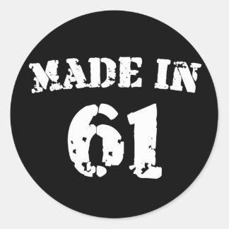 Made In 1961 Classic Round Sticker