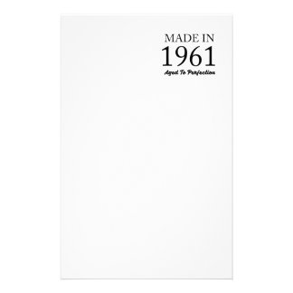 Made In 1961 Stationery