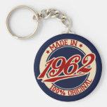 Made In 1962 Basic Round Button Keychain
