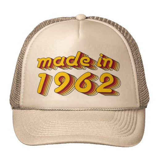 Made in 1962 (Yellow&Red) Trucker Hat