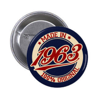 Made In 1963 2 Inch Round Button