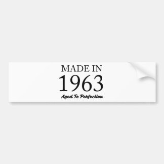 Made In 1963 Bumper Sticker