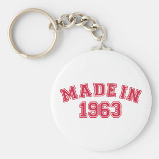 Made in 1963 keychains