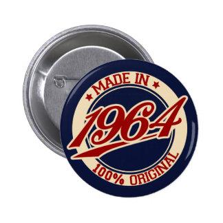 Made In 1964 2 Inch Round Button