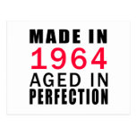 Made In 1964 Aged In Perfection Post Cards