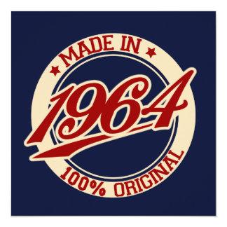 Made In 1964 Personalized Invite