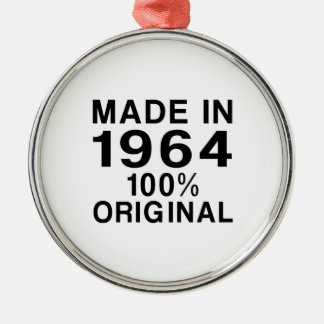Made in 1964 metal ornament