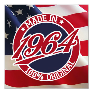 Made In 1964 USA United States of America Card