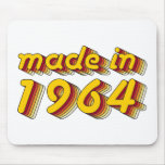 Made in 1964 (Yellow&Red) Mouse Pads
