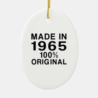 Made in 1965 ceramic ornament