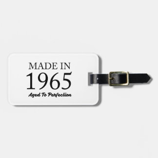 Made In 1965 Luggage Tag