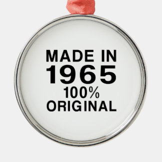 Made in 1965 metal ornament