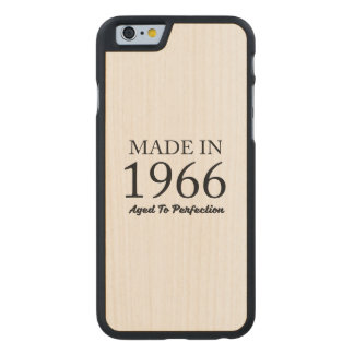 Made In 1966 Carved Maple iPhone 6 Slim Case
