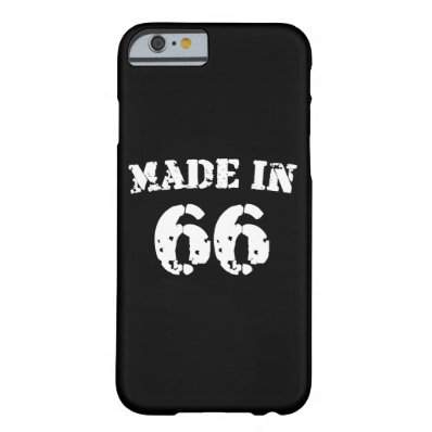 Made In 1966 iPhone 6/6s Barely There iPhone 6 Case